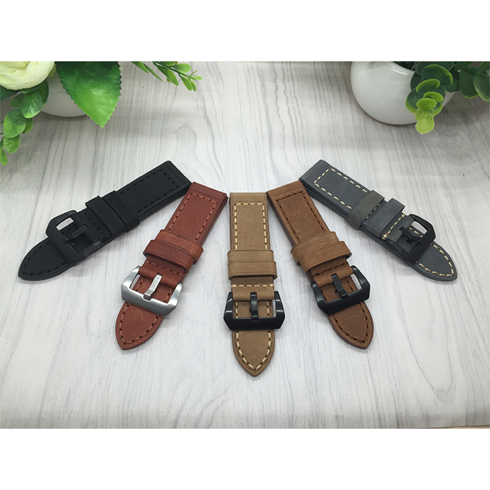 Quality Genuine Leather Watchband For Garmin Fenix 3 26mm Mens Watch band Black Brown Smart watches accessories