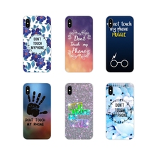 For Sony Xperia Z Z1 Z2 Z3 Z5 compact M2 M4 M5 C4 E3 T3 XA Huawei Mate 7 8 Y3II Transparent TPU Cases Covers Dont Touch My Phone