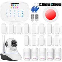 G19 Chuangkesafe wifi Cámara de Red ip APP GSM RFID Wireless/Wired Home Intruder Sistema de Alarma Antirrobo + 13x Puerta Sensor