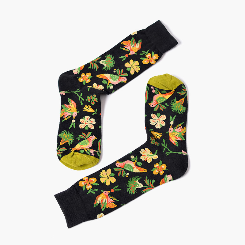 PEONFLY European Personality Tide Brand   Socks   men Happy Of Home Four Seasons Full Cotton Foreign Trade Lovers   Socks     sock   meias