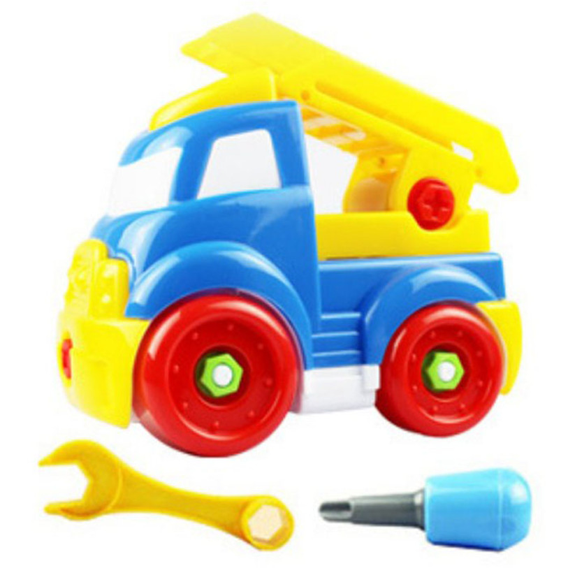 2017 HOT Christmas Gift Kids Child Baby Disassembly Assembly Cartoon Fire Car Toy Y7824