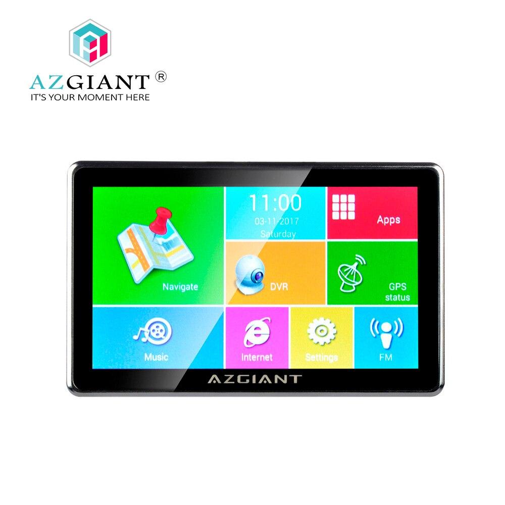 AZGIANT 7 Blutooth Wi-Fi Car грузовик навигация gps DVR СБ Tablet Сенсорный экран Android Операционная система жизни Бесплатная карта 16 ГБ NT-80