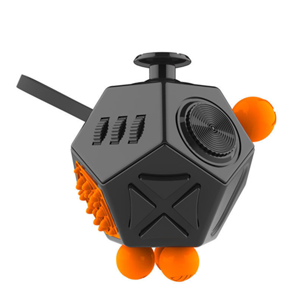 12-Side Sided Magic Fidget Cube Desk Toy Stress Anxiety Relief Anti Focus Puzzle Toys EDC Focus ADHD Autism Black White Green