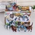 Frete Grátis Novo 4 pçs/lote Deformação Dinossauro Jurassic Ovos De Plástico Novidade T-REX Dinossauro Brinquedos Educativos Presente para As Crianças