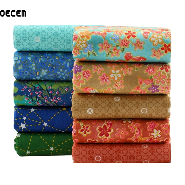 Japanese Style Cotton Quilting Fabric Patchwork Fat Quarter ... : fabric for quilting - Adamdwight.com