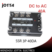 40A DC Control AC Three Phase Solid State Relay SSR Ac Three