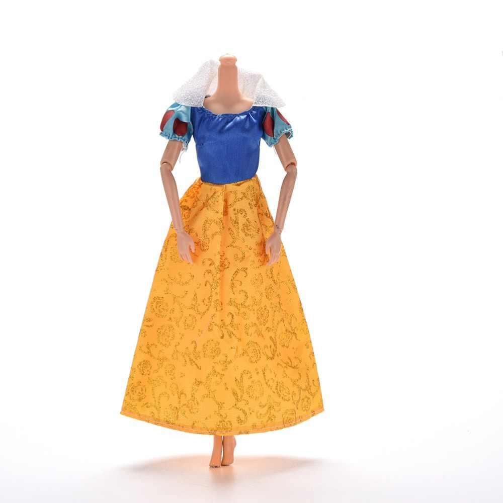 Желтое свадебное платье принцесса Вечеринка бальное длинное платье юбка невесты вуалевый костюм Одежда для куклы аксессуары подарок на Рождество игрушка