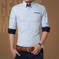 Vee shou 2019 Новая мужская рубашка с длинными рукавами Хлопковая мужская Корейская версия тонкой рубашки плюс удобрение для увеличения многоцв