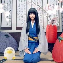 Japanischen Anime GINTAMA Katsura Kotarou kostüm Herren Japan Kimono  kleidung Kostüm Silve seele Katsura Kotarou robe jede größe ee478107fe039