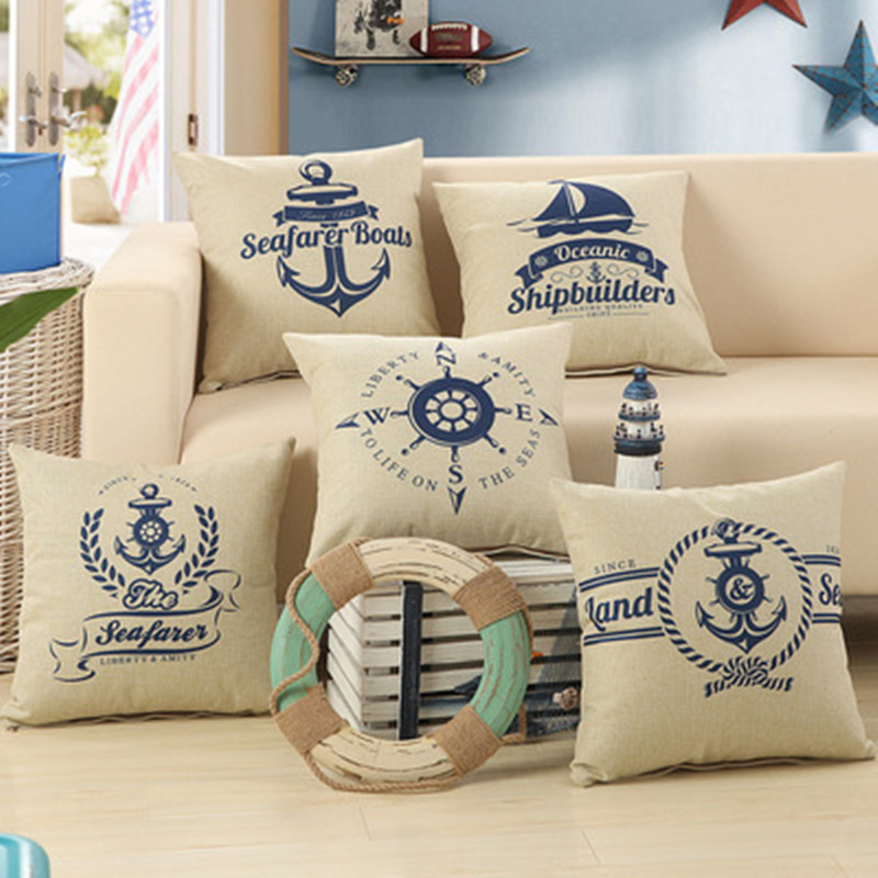 BZ284 American classic pirate ship series Pillow Cushion