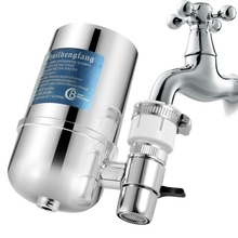 Home Kitchen Faucet Water Purifier Filter Household Portable  Water Purifier Filter Purification Rotary Splash-proof Faucet New excellent home water purifier filter water purifier home kitchen decompression complex special cotton filter jys1