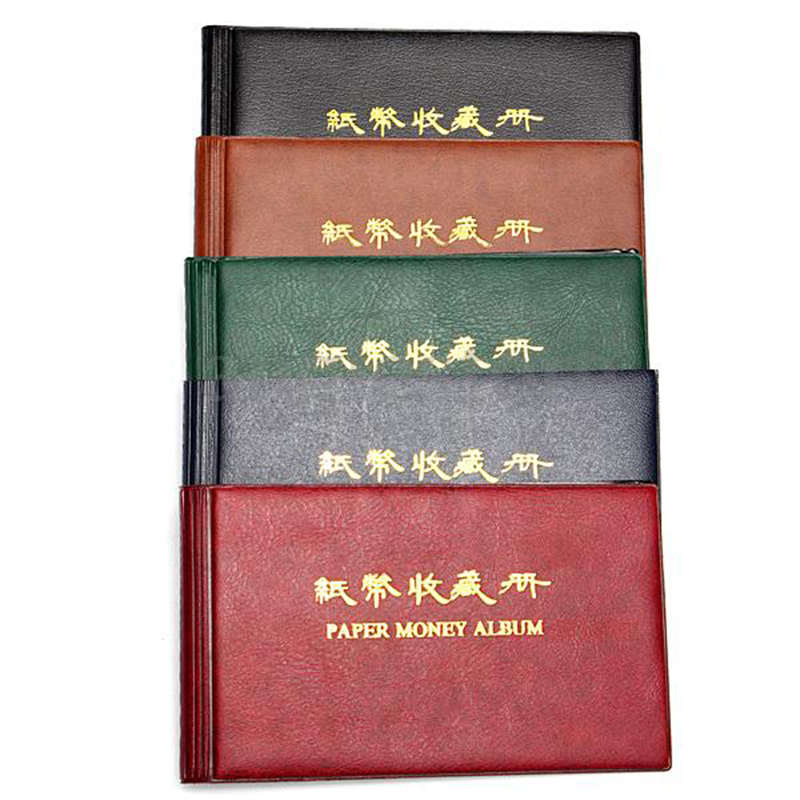 5pcs( Album Cover Pouch Case Binder Collection Pocket Currency Banknote Bank