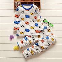 Warm Comfortable Baby Boys And Girls Thermal Underwear O Neck Print Fashion Pullovers For Kids Autumn