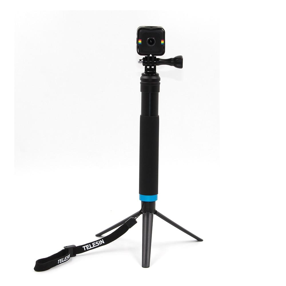 TELESIN Extendable Aluminum Alloy Selfie Stick + Detachable Tripod ...