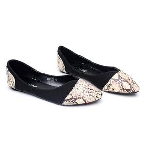 Image 2 - BEYARNE Pointed Toe Flats Sapatilha Ballerina Flats Ballet Shoes Women Sapato Feminino size 35 41
