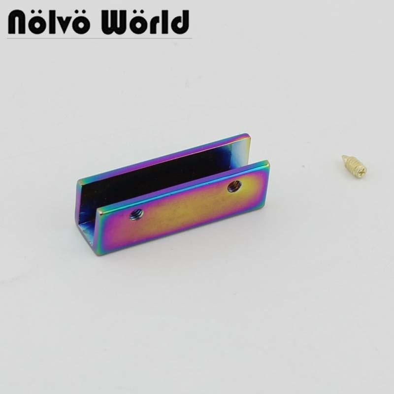 4-30pcs Rainbow 3.5cm Metal Edge Trim In Screws For Bags Purse Handbag Flap Edge Trim Hardware