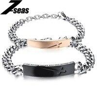 Romantic Cross Couple Bracelet Fashion 316L Stainless Steel Adjustable Lovers Charm Bracelet Bangle Men Women Jewelry