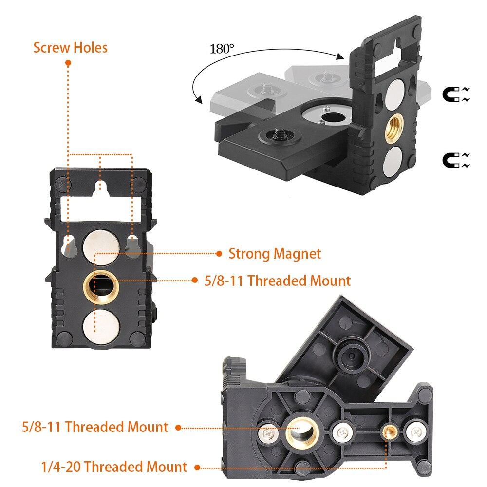 Magnetic L-shape 180 Bracket Tripod Adapter Holder For Universal Laser Level