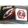 Fresco 6800 mAh Banco de la Energía de Los Vengadores Capitán América Shield Móvil fuente de Alimentación Móvil Cargador de Batería de reserva Externa