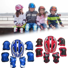 7 Pcs Kid Child Roller Skating Bike Helmet Knee Wrist Guard Elbow Pad Set for Bicycle Helmet Protection Safety Guard Cycling Pad hits shine professional child s bike kid bicycle cycling safety for children age 20 month to 4 years old health bicycle 12 inch
