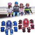7 Pcs Kinder Roller Skating Bike Helm Knie Handgelenk Schutz Ellenbogen Einstellbare Pad Schutz Outdoor Sicherheit Getriebe Reiten Roller Für kid|Fahrradhelm|Sport und Unterhaltung -