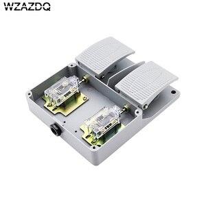 Image 3 - WZAZDQ Ayak anahtarı YDT1 15 alüminyum kabuk gri çift pedal anahtarı makinesi aracı aksesuarları anahtarı