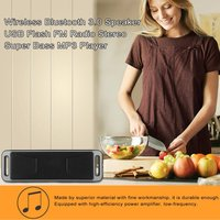 5PCS Stereo Super Bass Bluetooth 3.0 USB Speaker Wireless Speaker Flash Y30 MP3 Player For iphone Samsung Xiaomi