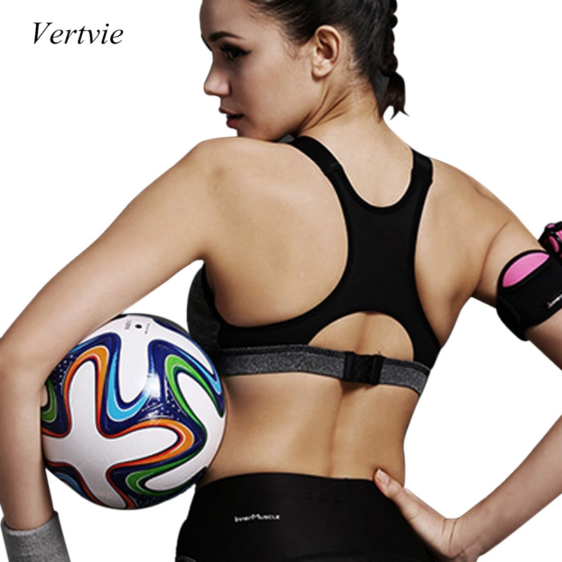 vertvie yoga sports bra top padded push up bra breathable. Black Bedroom Furniture Sets. Home Design Ideas