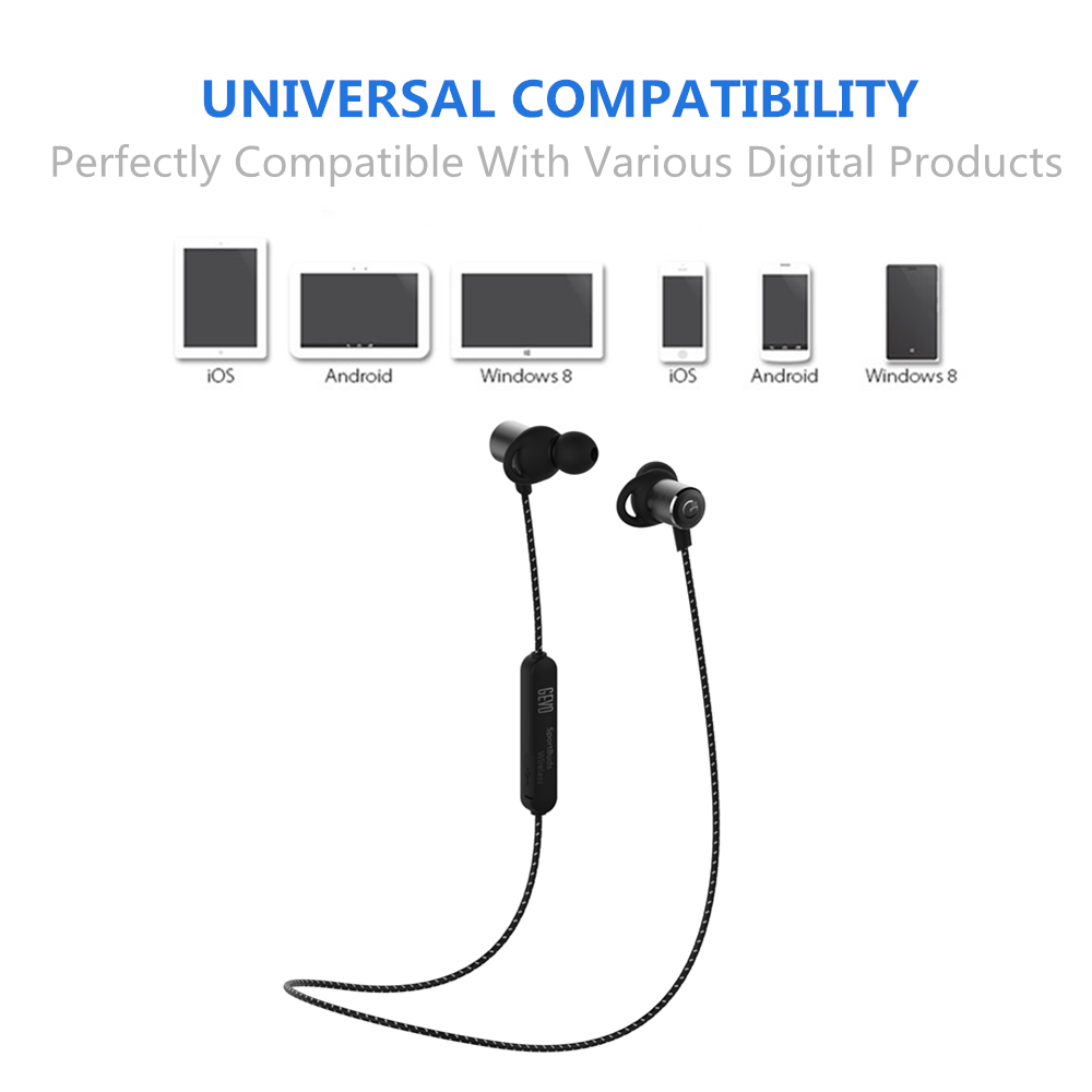 GEVO GV-18BT Wireless In-Ear Earphone Bluetooth Sport Earbuds With Microphone Magnetic Earphones Waterproof Earphone For Xiaomi