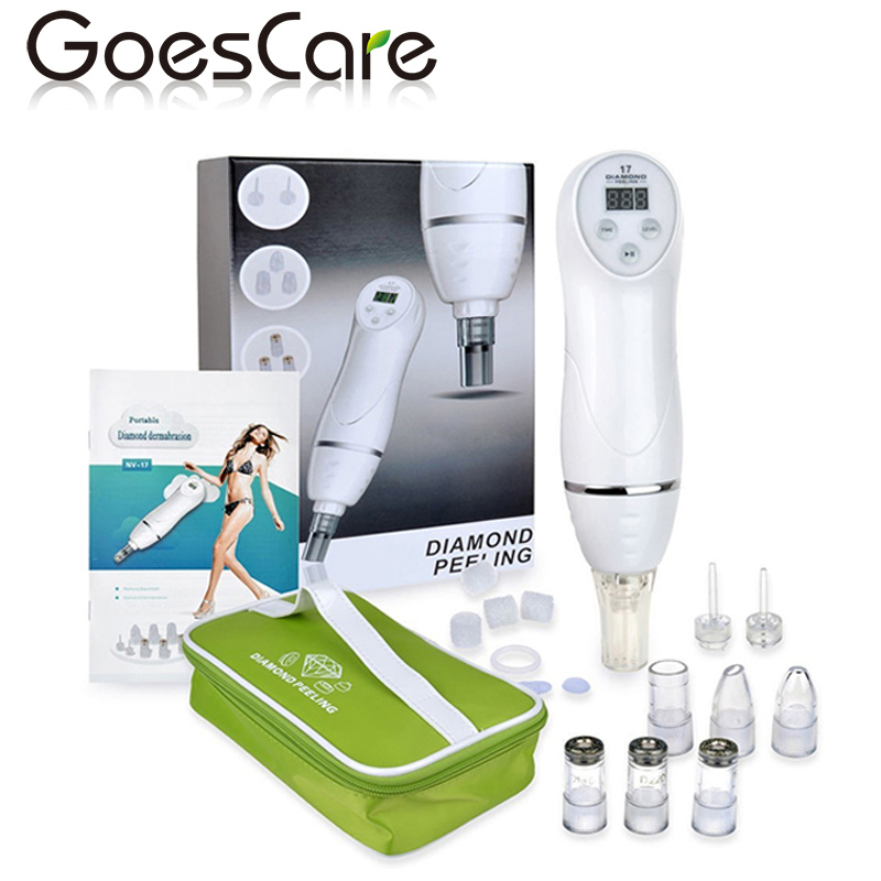 Face Skin Care 6 Tip Dermabrasion Peeling Machine Facial Skin Care Massager Beauty Device Professional Microdermabrasion