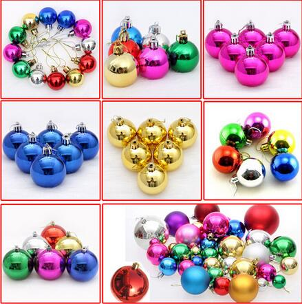 24pcs 8cm christmas tree xmas balls decorations baubles party wedding ornament plastic christmas balls xmas in ball ornaments from home garden on - Christmas Ball Decorations