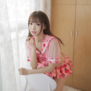 1358c44671c2 5 sets Europea sexy ropa interior tentación traje club papel jugar a la  enfermera uniforme de ...