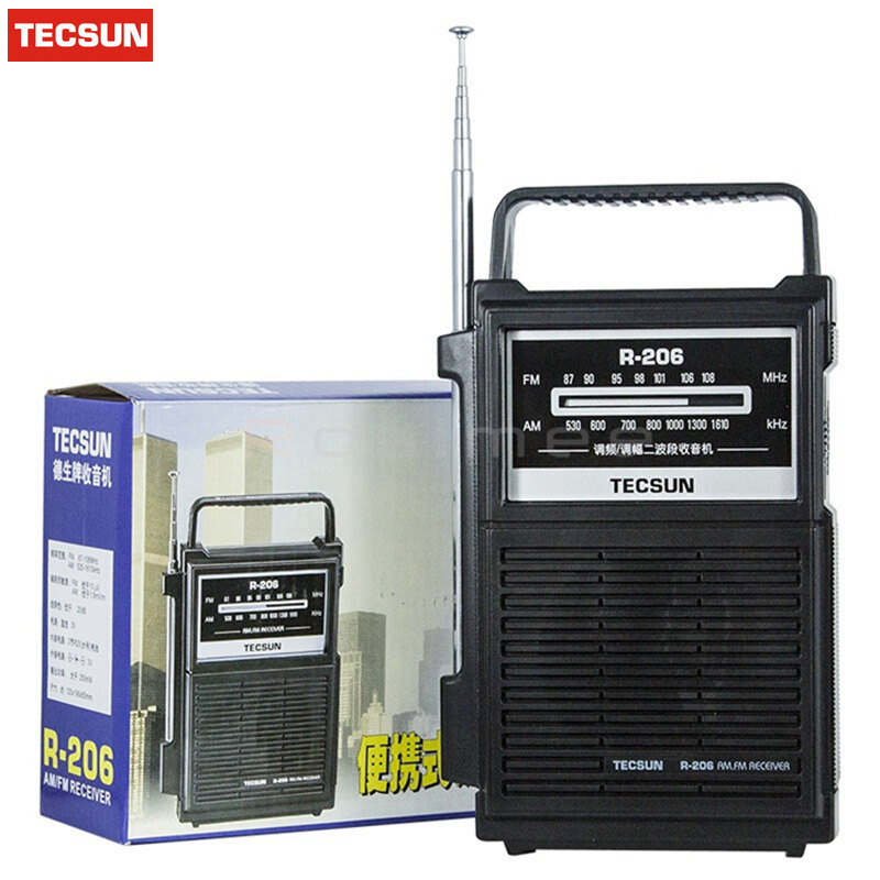 Einzelhandel-großhandel Original Tecsun R-206 Multy Band Radiowecker Empfänger Digitale Demodulation Stereo Radio Tragbaren Taschenformat Duftendes Aroma Tragbares Audio & Video