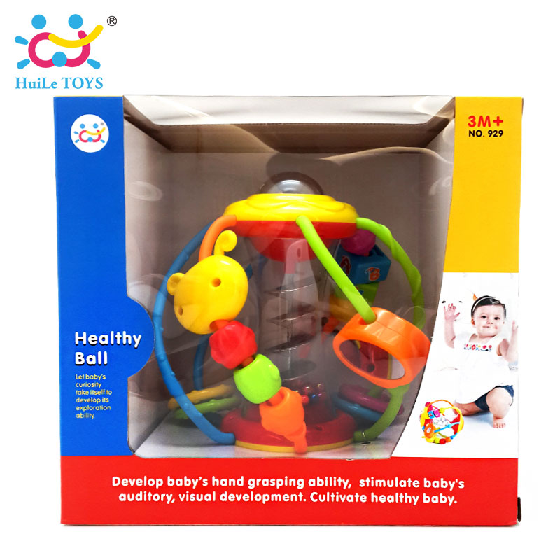HUILE-TOYS-Baby-Toys-Ball-929-Baby-Rattles-Educational-Toys-for-Babies-Grasping-Ball-Puzzle-Multifunction-Bell-Ball-0-18-Months-5