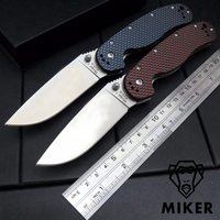Miker RAT Model 1 Folding Knives Carbon Fiber Handle D2 Blade Tactical Knife Camping Survival Outdoor