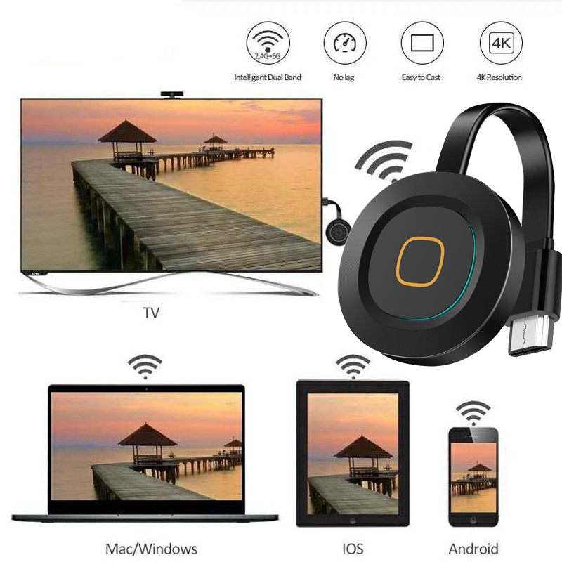 Mirascreen G10A Anycast Miracast 2,4G/5G Wireless HDMI TV-Stick DLNA AirPlay Spiegel Wifi Display Dongle Empfänger für IOS Android