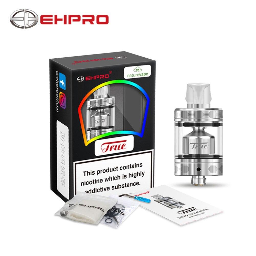 дрипка ehpro model t rda черная Original Ehpro True MTL RTA 2ml/3ml E-juice Capacity Designed By Ehpro & NatureVape Five Air Slots VS Ehpro Lock Build-free RDA