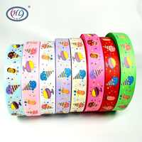 """HL 1""""(25mm) 5 Meters/lot Printed Ice-cream Grosgrain Ribbons Wedding Party Decorative Gift Wrapping DIY Chilren Hair Accessories"""