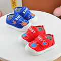 Baby shoes meninos e meninas dos desenhos animados impresso mickey mouse padrão anti-slip infantil macia sole alta prewalker