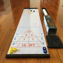 цена Table bowling shuffle Shuffleboard Curling Board Game for Travel Bar School Training family Puzzle Children' Game Toys 28*120cm онлайн в 2017 году