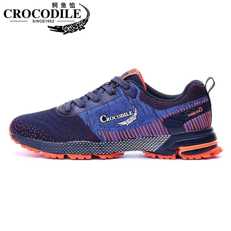 Homens de crocodilo Maratona Tênis de Corrida Respirável Sapatos de Amortecimento Sapatos Masculinos Athletic Shoes Tênis de Corrida Do Esporte Sapatos Treinador Mulheres
