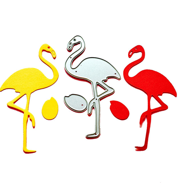 Knife pattern flamingo shape cutting metal stamping die card knife pattern flamingo shape cutting metal stamping die card collage album decoration diy crafts mold cutting pronofoot35fo Images