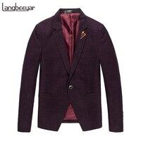 2017 New Fashion Brand Unique Mens Blazer Jacket Single Button Casual Blazer Slim Fit Royal Blue
