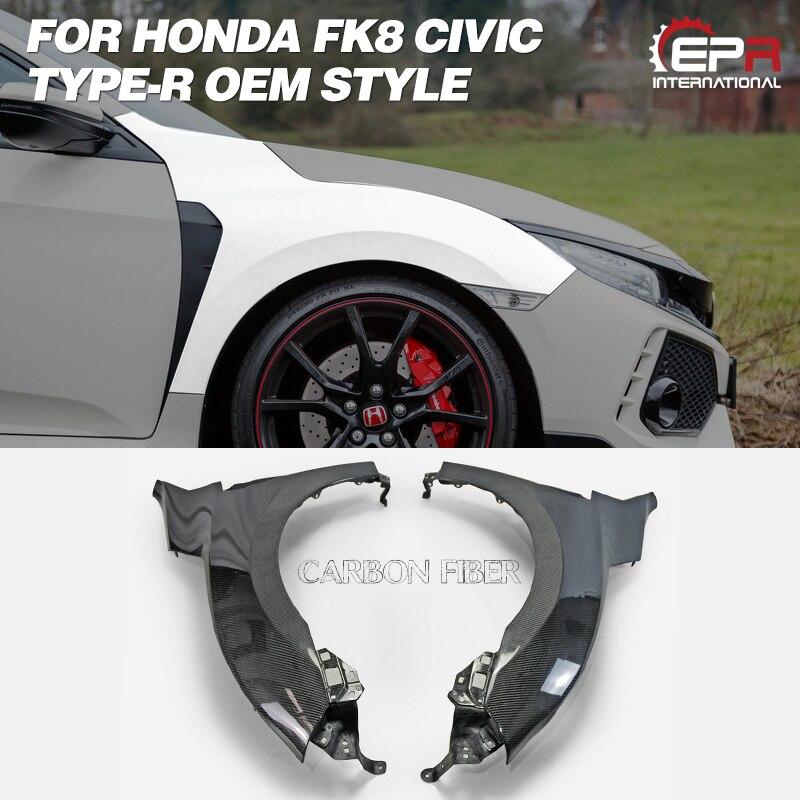Garde-boue FRP pour Honda FK8 CIVIC TYPE R en carbone/Fiber de verre Kit de carrosserie de garde-boue avant OEM garniture de réglage pour pièce de course Civic FK8
