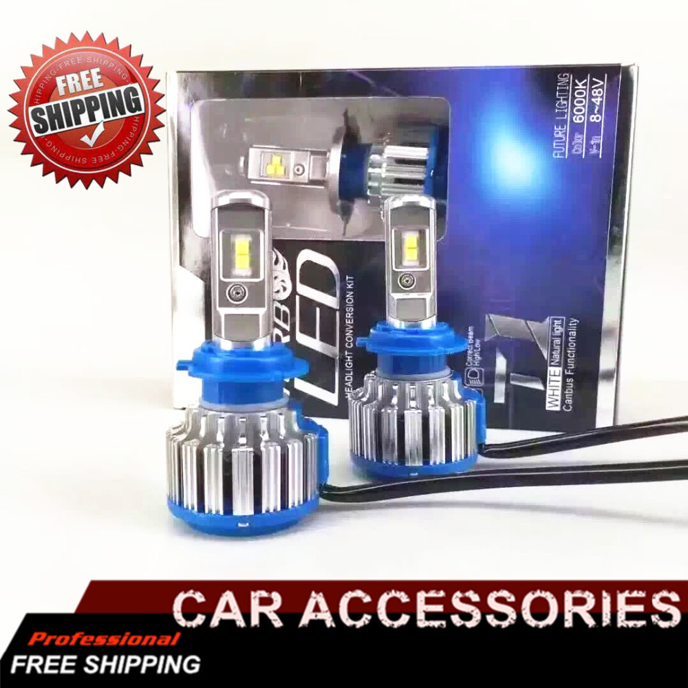 Led Auto Light 9005 Car Headlight Conversion Kit 70W 7000Lm/Set Lamp Bulb  6000K White Turbo Leds w/ ADOB Beam newest h4 led car headlight h1 h8 hig led light 9005 9006car led headlight bulb auto headlamp lamp high low beam white lighting
