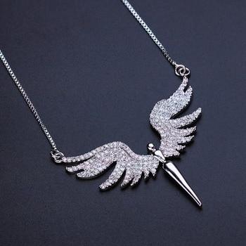4344068c7935 Collar con encanto de ala de Ángel