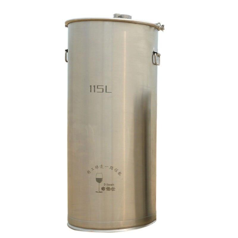 115L 304 acier inoxydable seau maison brassage cuve de Fermentation vin et bière fermenteur avec ancre oreille conception conteneur de stockage