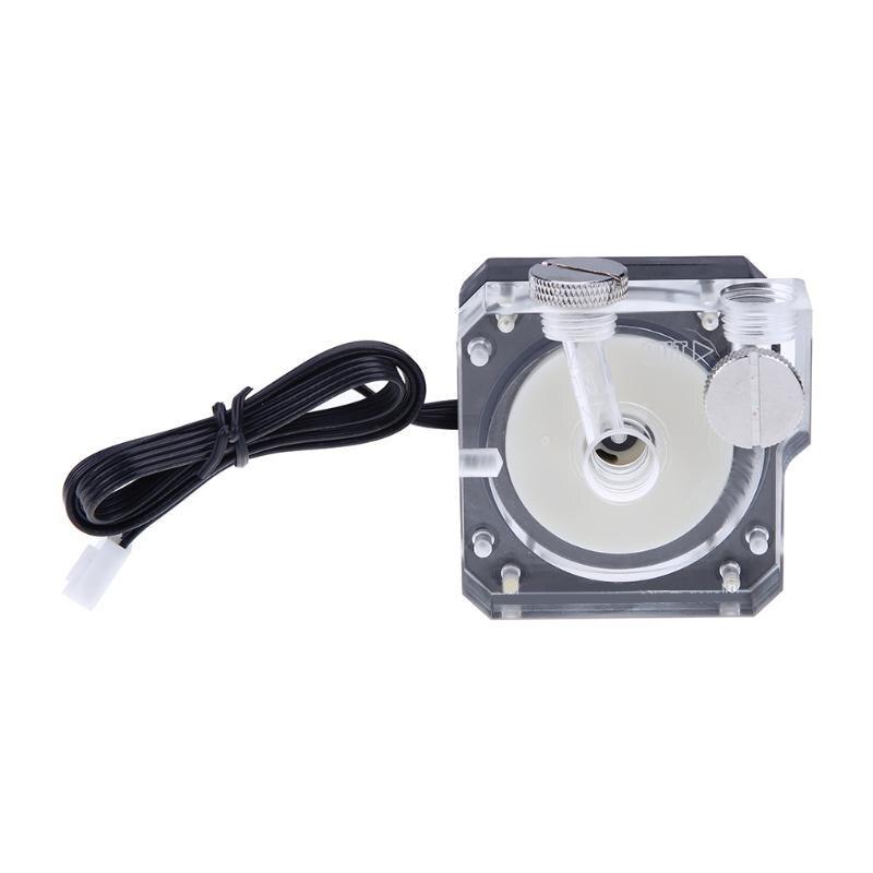 Universal G1/4 Gewinde Schlauchverbinder Acryl Abdeckung Super Stille Wasser Umwälzpumpe für PC Wasser Kühlsystem DC 12 V