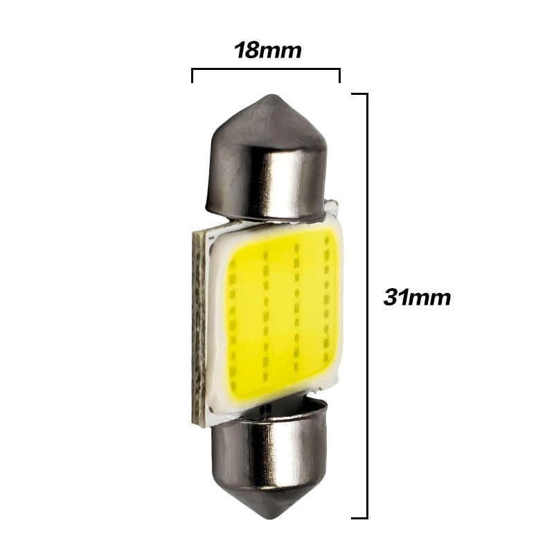 Высокое качество супер белый 31 мм 36 мм 39 мм 42 мм C5W 12 чип COB Светодиодное освещение фестонного типа для автомобиля интерьерный светильник купольная лампа авто карта крыша лампа для чтения