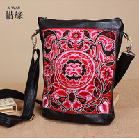 XIYUAN BRAND Luxury Cow Genuine Leather Embroidered Women Bag National Messenger Bag Women S Fashion Leisure